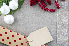 Christmas Items with Copy Space Stock Image