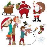Christmas items set isolated on white background Stock Image