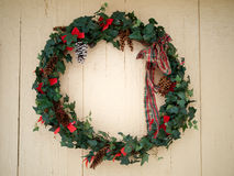 Christmas ivy wreath Stock Photos