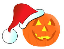 Christmas Jack-o-lantern illustration Royalty Free Stock Photography