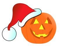 Christmas Jack-o-lantern illustration Royalty Free Stock Photography
