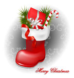 Christmas jackboot decorative background Stock Photo