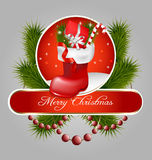 Christmas jackboot decorative background Stock Photos