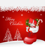 Christmas jackboot decorative background Royalty Free Stock Image