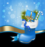 Christmas jackboot decorative background Stock Image