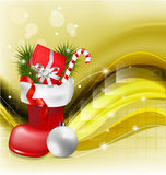 Christmas jackboot decorative background Royalty Free Stock Images
