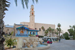 Christmas in Jaffa. Christmas Decorations in Old Jaffa royalty free stock image