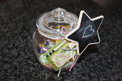 Christmas Jar full of treats Stock Images