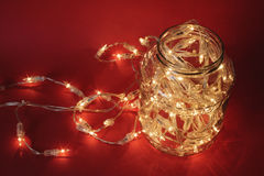 Christmas in a jar. Royalty Free Stock Photos