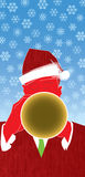 Christmas Jazz Trumpet. Cool jazz and a red hot horn player usher in the holidays in this fun, retro-modern illustration design. This trumpet piece is useful in Stock Image