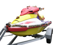 CHristmas jetski Stock Photo