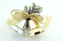 Christmas Jingle Bell. A pair of jingle bell ties with nice ribbon Stock Images