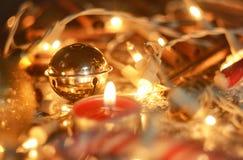Christmas Jingle Bell With Lights Stock Photography