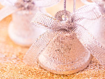Christmas - jingle bells. A still life of some Christmas decorations Royalty Free Stock Photo