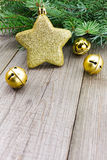 Christmas jingle bells with golden star Royalty Free Stock Photo