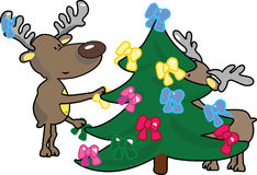 Christmas joy. Vector illustration of funny reindeers Royalty Free Stock Photos