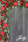 Christmas Joy Background Border Royalty Free Stock Photo
