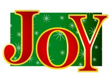 Christmas Joy Banner 2 stock illustration