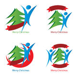 Christmas spirit logos Royalty Free Stock Images