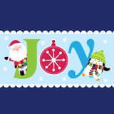Christmas Joy with Santa and cute penguin Royalty Free Stock Photo