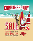 Christmas in July Sale marketing template. Royalty Free Stock Image