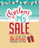 Christmas in July Sale marketing template. EPS 10 vector Royalty Free Stock Images