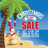 Christmas in July Sale marketing template. Royalty Free Stock Photography
