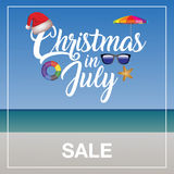Christmas in July Sale marketing template royalty free illustration