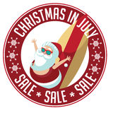 Christmas in July Sale stamp. Royalty Free Stock Images