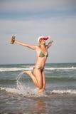 Christmas jump Stock Photo