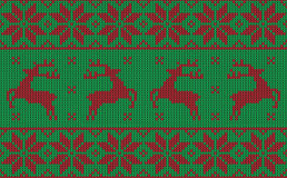 Christmas jumper pattern design Royalty Free Stock Photo