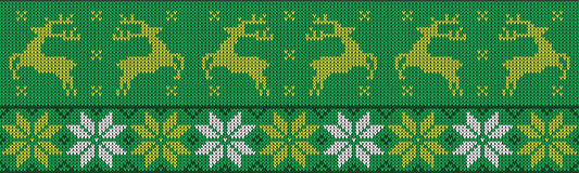 Christmas jumper pattern design Royalty Free Stock Images