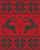 Christmas jumper pattern design. Red christmas jumper pattern design Royalty Free Stock Photos