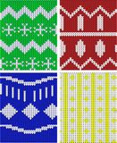Christmas Jumper patterns stock photo