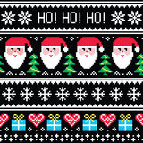 Christmas jumper or sweater seamless pattern with Santa and presents Royalty Free Stock Image