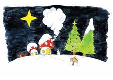 Christmas-kabouters Stock Images