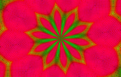 Christmas Kaleidoscope wallpaper background. An illustration of red and green dots in a kaleidoscopic design for use in website wallpaper design, presentation Stock Photos