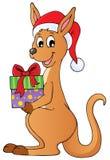 Christmas kangaroo theme image 1 royalty free stock photography