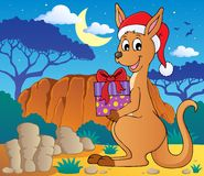 Christmas kangaroo theme image 2 Royalty Free Stock Images
