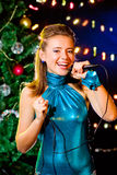 Christmas karaoke Stock Images