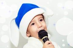 Christmas karaoke. Stock Photo