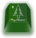 Christmas keyboard button Royalty Free Stock Images