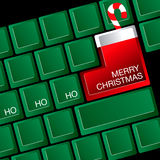 Christmas keyboard illustration Stock Images