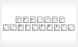 Christmas keyboard Stock Photo