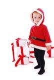 Christmas kid Stock Images