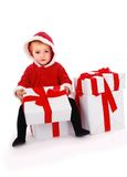 Christmas kid Stock Photos