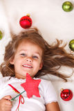 Christmas kid Stock Image