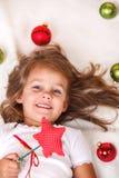 Christmas kid Stock Image