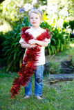 Christmas kid. Royalty Free Stock Images