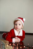 Christmas kid in santa hat Royalty Free Stock Photography